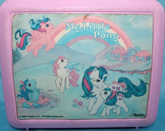 Vintage My Little Pony Lunchbox 1980's Hasbro