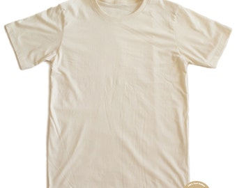Plain T-shirt 100% Organic Cotton and Non-Toxic