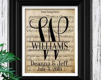 Personalized Wedding Gift | Wedding Gifts for Couple | Bridal Shower | Personalized Wedding Sign | Gift for Wife | First Dance | Couple Gift