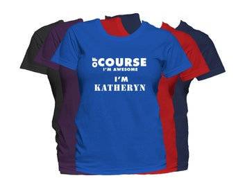 KATHERYN Womens First Name T Shirt First Name Family Name Custom Personalized Name T-Shirt