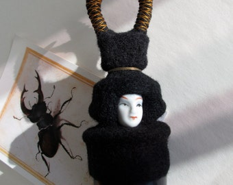 Needle felted beetle, insect, curiosity cabinet, oddity