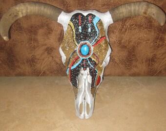 Desert Beaded Cow Skull