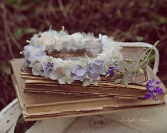 Newborn Flower Crown, Newborn Halo, Newborn Photo Prop, Newborn Headband, Newborn Tieback, Newborn Photography Props
