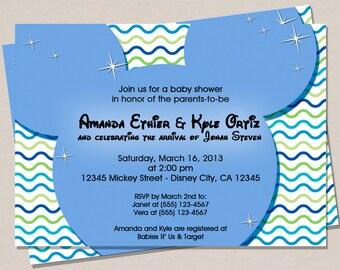 disney inspired baby shower invitation mickey mouse baby shower invitation baby shower invitation