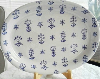 Reserved: Arabia Finland Tapestry Oval Serving Plate