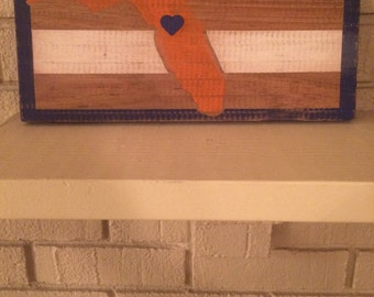 Florida Gators inspired State wall decor
