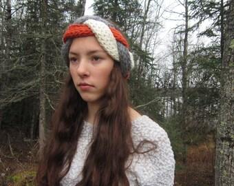 Thick knit braided earwarmer
