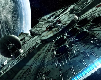 Star Wars Millennium Falcon Large A1 Poster