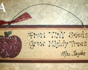 PERSONALIZED TEACHER GIFT signs