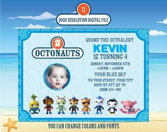 "Octonauts Birthday Invitation - ""OCTONAUTS INVITATION"" Octonauts - Octonauts Party Invites - Octonauts printables invitation | ms11"