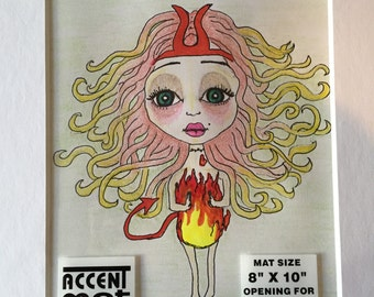 Mini Devil Girl- Fire