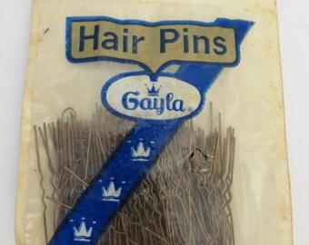 Set of Vintage Hair Pins in Original Packaging