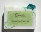 ROSEMARY MINT  | Glycerin Soap | Shea Butter | Mango Butter | Cocoa Butter | The Graceful Rabbit