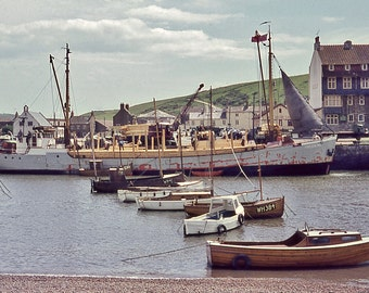 a 6x4 printed postcard of Bridport Harbour, West Bay in Dorset