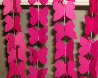 3 D Butterfly Paper Garland, Butterfly Garland, Wedding Garland, Bridal Shower, Baby, Birthday, Garland, Butterfly