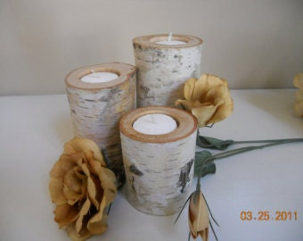 10 sets of 3 Beautiful Tea light Candles Holders 6 -5-4 inch tall, Wedding, Decorations