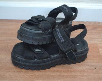vintage 90s sketchers platform sandals