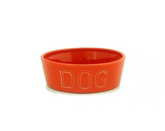 Bauer Pottery Dog Bowl Medium