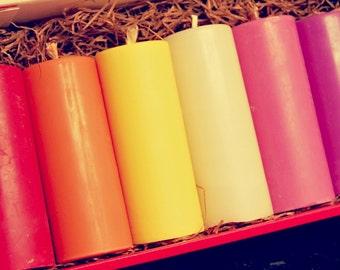 Individual wax play candles