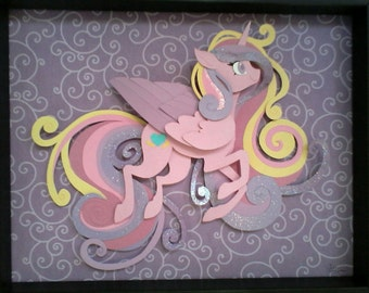 OOAK Griffsnuff Princess Cadance Shadow Box