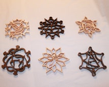 Scroll Saw Pattern- Christmas Ornaments, Snowflakes Package