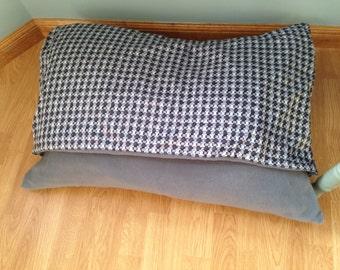 Blue Grey Purple Snuggle Bed Medium Pillow Dog Bed Handmade