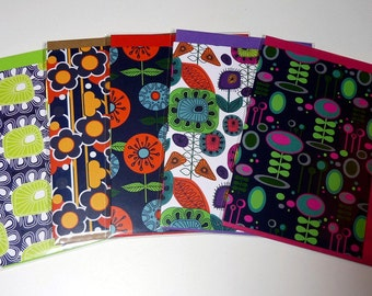 Set of all five greeting cards - Set B