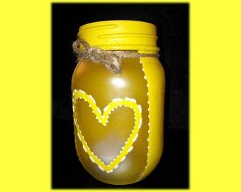 Open Heart Design Flameless Candle