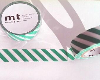 MT Washi Tape green striped