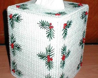 Holly Tissue Box