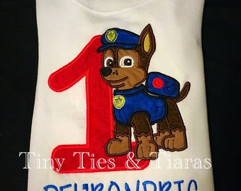 Paw Patrol birthday shirt or onesie boys girls