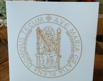 Gold Our Lady of Walsingham Gift Cards (Pack of 5)