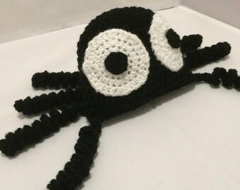 Spider hat with 3D legs // amazing spider hat // Halloween spider hat // bug hat // Halloween dress up // Halloween costume // spider beanie