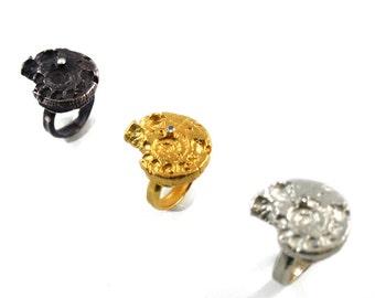 Back Ammonite Ring