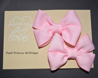 Light Pink mini Hair bows