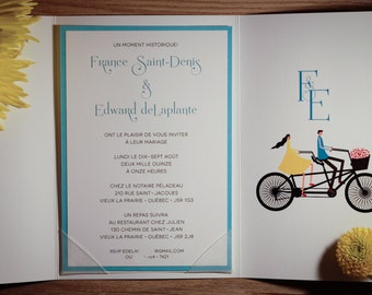 Vintage Invitation, Vintage Wedding Invitation, Vintage Wedding Invitations, Vintage Invitations, Bike Invitation, Bike Invitations, Wedding