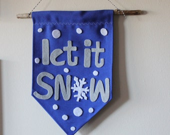 Let it SnowChristmas wall hanging