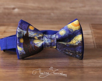 Van Gogh Starry Night Bow tie - Bowtie