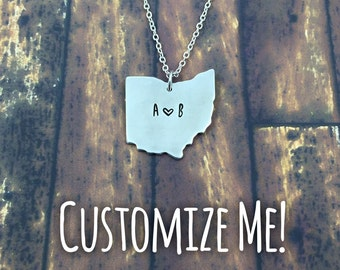Customizable Hand Stamped Ohio Necklace