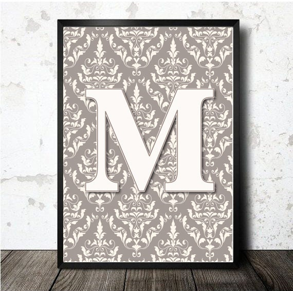 Letter M Print Poster. PDF Downloable And Printable In A4