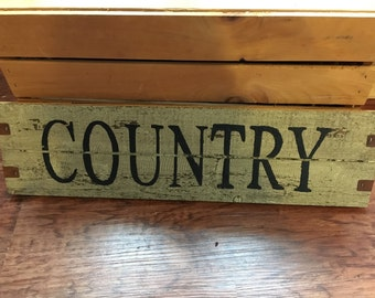 Wooden Country Sign