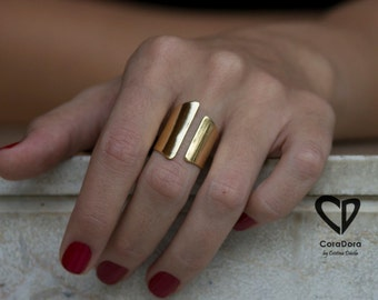 24K Gols Plated Asymmetric Ring