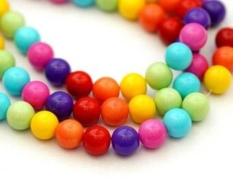 34 St. 12 mm glass beads / mix