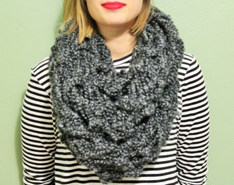Gray Infinity Scarf