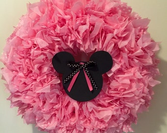 Minnie Mouse Tissue Paper Wreath