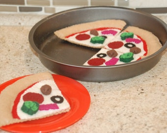 Felt Pizza Set - Toddler or Interactive