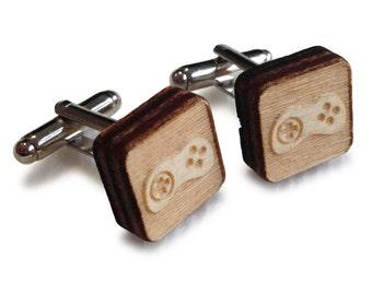 Wooden Cufflinks: Controller FREE WORLDWIDE SHIPPING