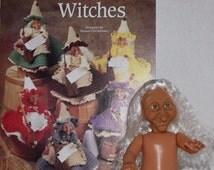 Kitchen Witches, The Needlecraft Shop Crochet Pattern, Fibre Craft Halloween Tilda Witch Doll Set