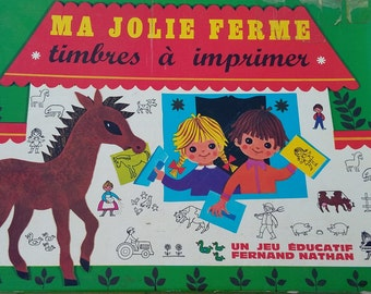My pretty farm-stamps to print-Fernand Nathan - 1969