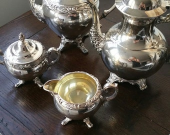 Silver Plate William A Rogers Tea Set